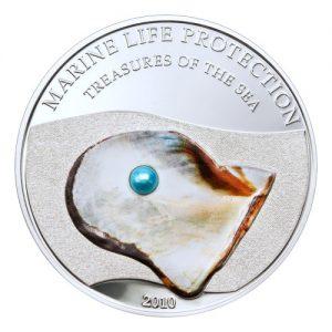 2010 Palau Marine Life Protection Blue Pearl Treasures Of The Sea Fisherboat Mermaid and Neptune