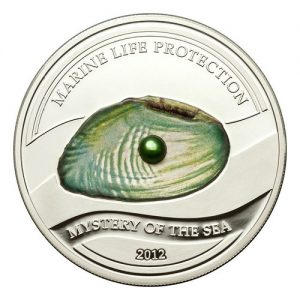 2012 Palau Marine Life Protection Green Pearl Mystery Of The Sea Fisherboat Mermaid and Neptune