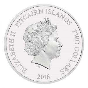 Blue Whale 2016 Pitcairn Islands The Whales of the Southern Ocean Silver Coin Back