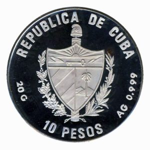 Fauna del caribe 10 Peso Silver