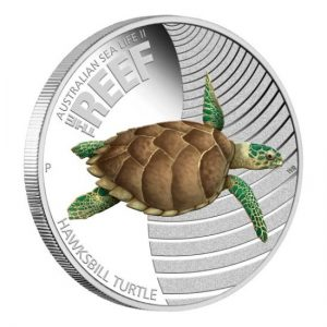Hawksbill Turtle 2011 Australian Sea Life II The Reef Silver Proof Coin
