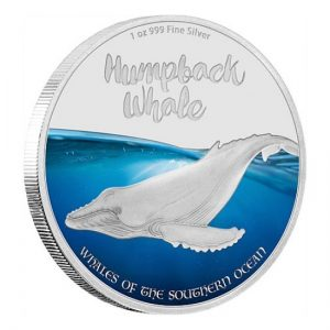 Humpback Whale Buckelwal 2016 Pitcairn Islands The Whales of the Southern Ocean Silver Coin