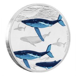 Niue 2017 Humpback Whale 1 Oz Silver Coin Elisabeth II Two Dollars