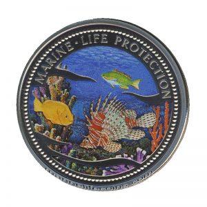 2000 Lionfish & Parrotfish Mermaid with Ship Marine Life Protection Republic of Palau 1 Dollar Coin 1$