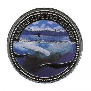 2002 Sperm Whale Mermaid Marine Life Protection Republic of Palau 1 Dollar Coin 1$