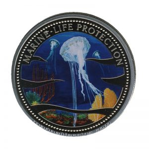 2002 Jelly-Fish Mermaid Marine Life Protection Republic of Palau 1 Dollar Coin 1$
