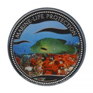 2003 Napoleon Fish Mermaid Marine Life Protection Republic of Palau 1 Dollar Coin 1$