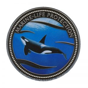 2003 Killer Whale Orca Mermaid Marine Life Protection Republic of Palau 1 Dollar Coin 1$