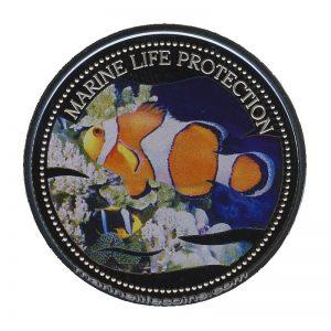 2004 Clownfisch Mermaid Marine Life Protection Republic of Palau 1 Dollar Coin 1$