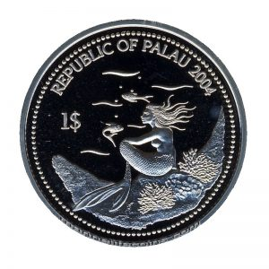 2004 Sweet Lips Grouper Marine Life Protection Republic of Palau 1 Dollar Coin 1$
