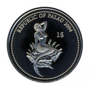 2004 Turtle Marine Life Protection Republic of Palau 1 Dollar Coin 1$