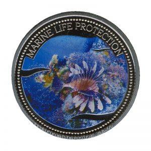 2005 Lionfish Mermaid Marine Life Protection Republic of Palau 1 Dollar Coin 1$
