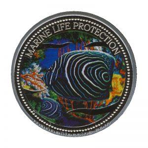 2005 Koran Angelfish Mermaid Marine Life Protection Republic of Palau 1 Dollar Coin 1$