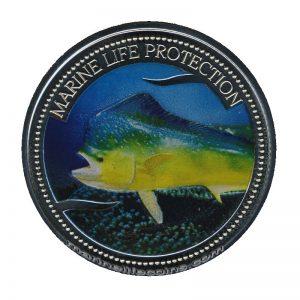 2006 Palau Color Coin Mahi-Mahi Marine-Life Protection Farbmünze