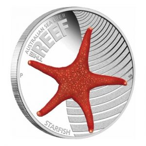 Starfish 2011 Australian Sea Life II The Reef Silver Proof Coin