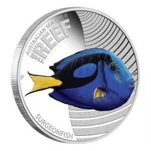 Surgeonfish 2012 Australian Sea Life II The Reef silver Proof Coin