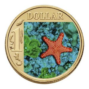 Biscuit Star Fish Australian Ocean Series 1$ 2007