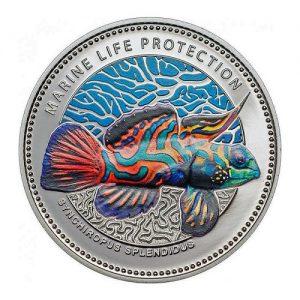 2013 Marine Life Protection Palau Mandarinfish Synchiropus Splendidus Mermaid and Neptune